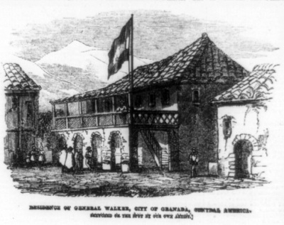 Residencia de William Walker en Granada. Imagen tomada de Wikimedia Commons.