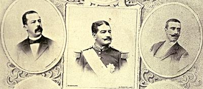 Retratos de Estrada Cabrera, Reina Barrios y Próspero Morales. Retratos por Valdeavellano.