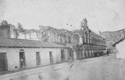 Palacio de los Capitanes Generales a mediados del siglo XIX
