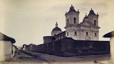 Iglesia de La Recolección en la Ciudad de Guatemala en 1875.