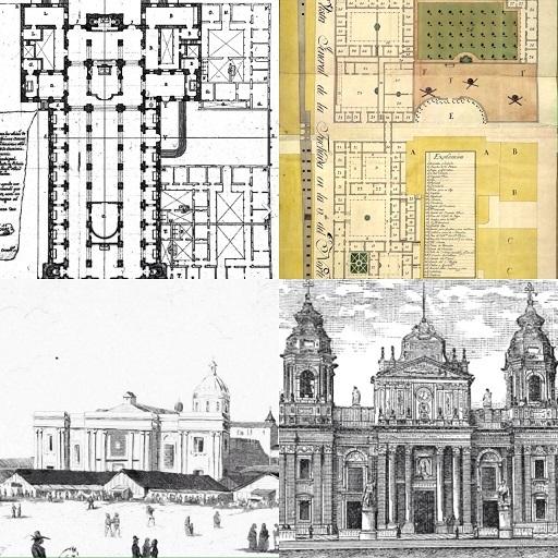 Planos de la Catedral, y del palacio arzobispal. Catedral en 1815 y en 1884.