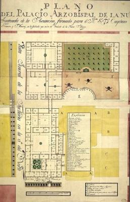 Plano del Palacio Arzobispal de la Nueva Guatemala de la Asunción, presentado a Francos y Monroy.