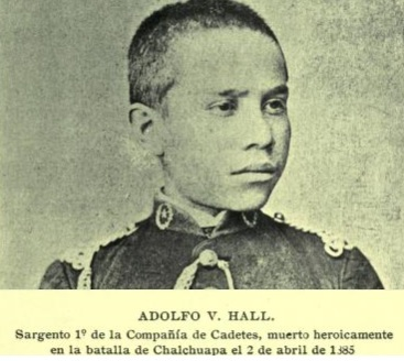 Adolfo V. Hall in 1885, shortly before dying in combat on April 2nd.