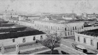 Ciudad de Guatemala en tiempos de Barillas, vista desde el Teatro Colón.