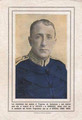 Afiche electoral del general Ubico en 1926.