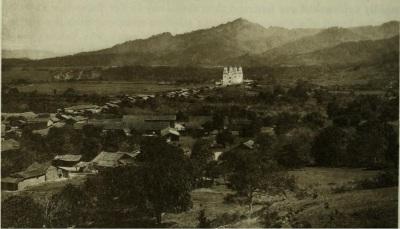 Basílica de Esquipulas en 1894. Imagen del libro de los esposos Maudslay.
