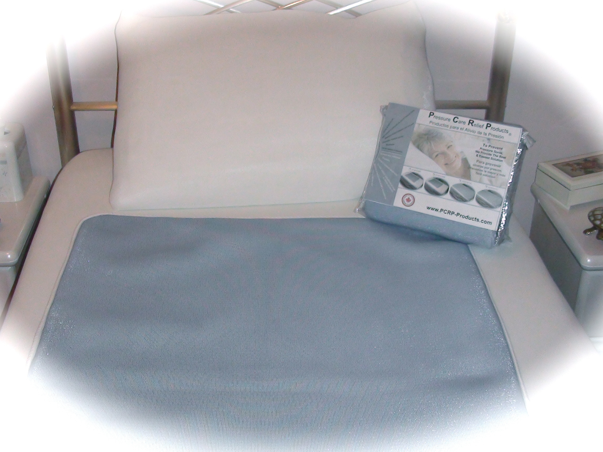 Bed Pad & White Pillow Case