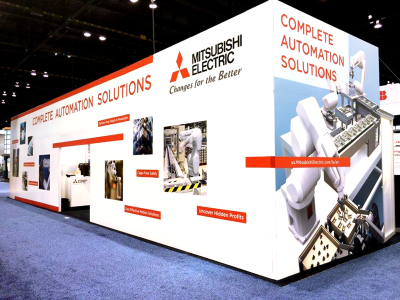 Mitsubishi Electric Automation - Trade Show Booth Graphics