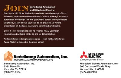 MEAU - Event co-branding campaign, mailer (back)