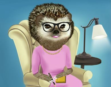 Armchair Abby - Canadian Hedgehog - On Call Adviser at Your Service