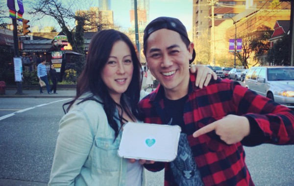 Co-founders Andrea Wesley & Eddy Boudel Tan hitting the streets.