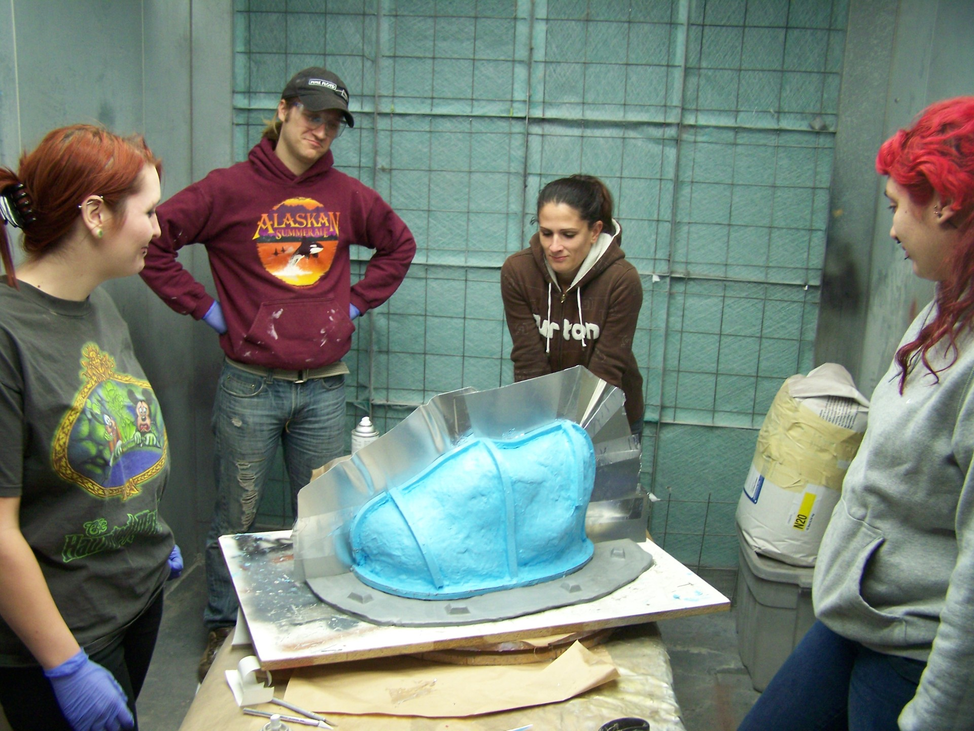 students  learning silicone mold making Learn FX