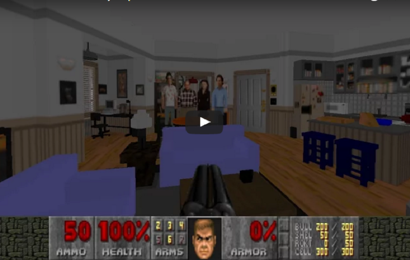 Seinfeld's apartment recreated in Doom II is the coolest thing so far this week