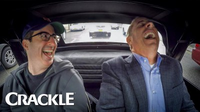 Watch John Oliver crack up Jerry Seinfeld on Comedians In Cars