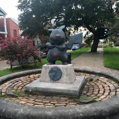 Illegal Pikachu statue erected in a New Orleans park?!