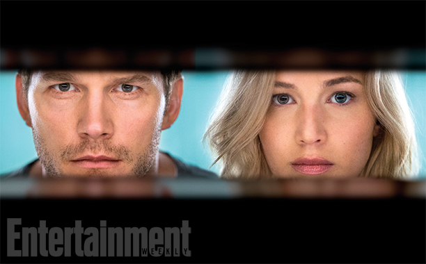 Newly released images from 'Passengers' starring Pratt and Lawrence