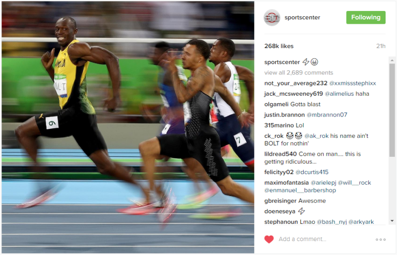 This image of Usain Bolt is all the motivation you need for the day.