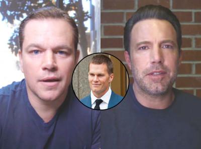 Ben Affleck and Matt Damon argue over who is better friends with Tom Brady