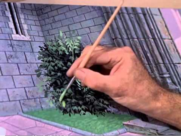 Watch 4 different Disney artists paint the same tree