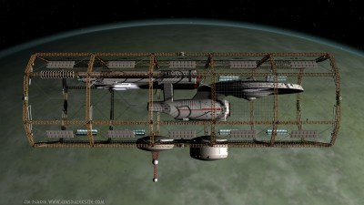 USS Daring in Spacedock #2