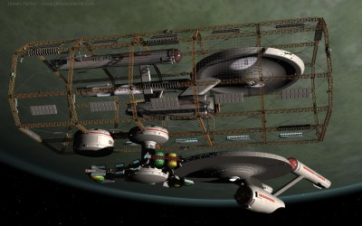 Ship in spacedock