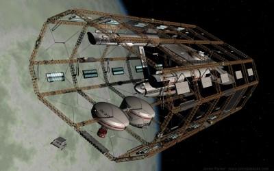 Enterprise in spacedock