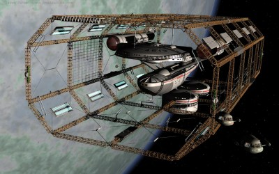 USS Amberwitch in Spacedock