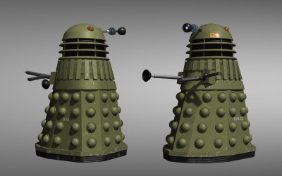WWII Dalek beauty shot