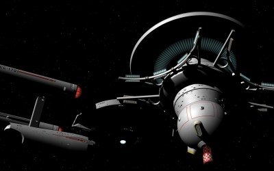 Enterprise at Station B-22