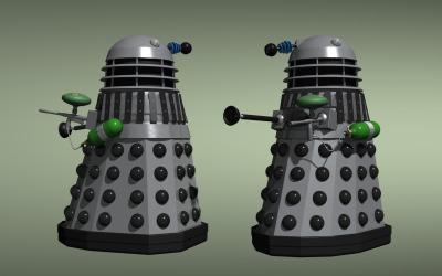 Dalek with paintball guns