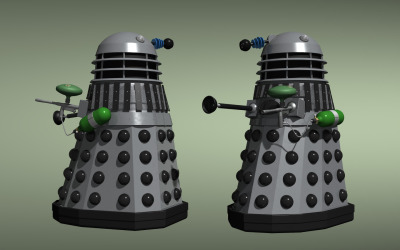 Dalek with paintball guns