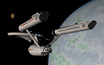 Enterprise entering orbit