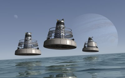 Hoverbouts over a strange sea