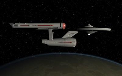 USS Enterprise in orbit