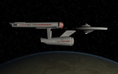 USS Enterprise in orbit