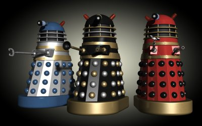 Three movie Daleks