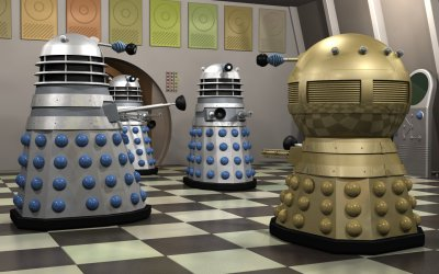1963 Daleks with Emperor