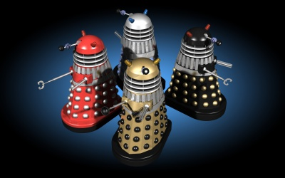 Four Invasion movie Daleks