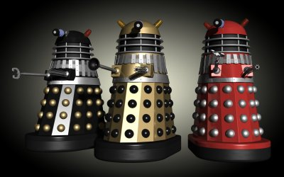 Three Invasion movie Daleks