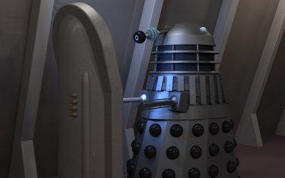 Dalek at a console
