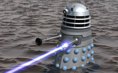 Invasion Dalek firing