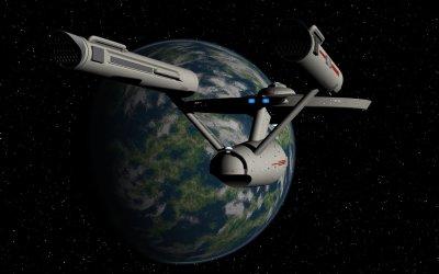 USS Enterprise on approach