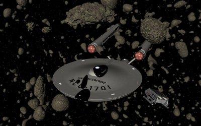 Hiding in an asteroid field