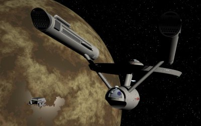 Shuttle docking with USS Enterprise