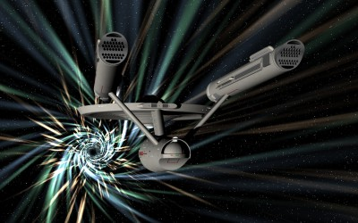 Enterprise in a wormhole