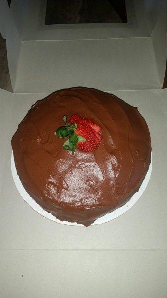J's Triple Chocolate Cake