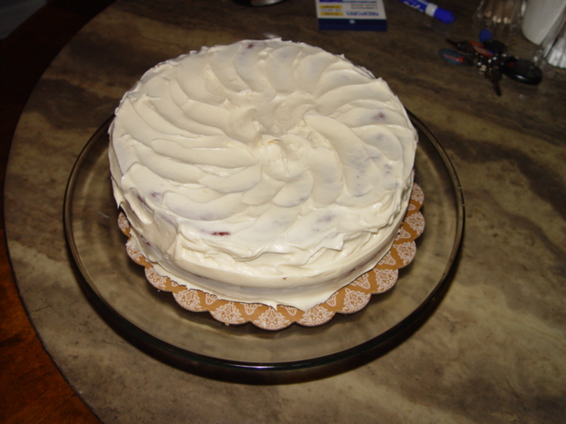Vanilla Two Layer Cake
