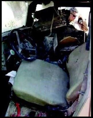 Humvee After Explosion