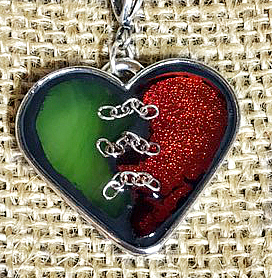 Mended Heart 2-Tone with Stitches