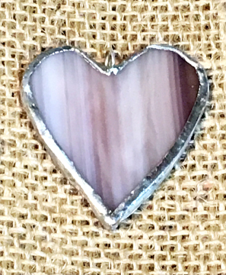Stained Glass Heart - Single Piece